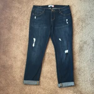 Cabi Distressed Slim Boyfriend Jeans